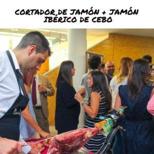 CORTADOR DE JAMÓN + JAMÓN IBÉRICO DE CEBO