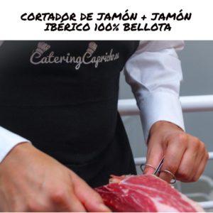 CORTADOR DE JAMÓN + JAMÓN IBÉRICO 100% BELLOTA