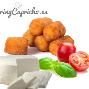 Croqueta de Albahaca, Queso y Tomate Natural